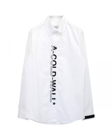 A-COLD-WALL* LOGO BRANDED SHIRT / WHITE