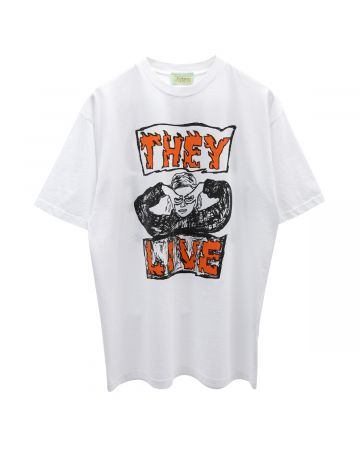 Aries THEY LIVE SS TEE / WHITE