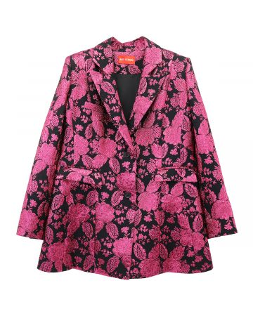 ART SCHOOL JACQUARD BAR JACKET SKEW 2 / PINK-BLACK