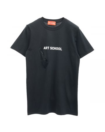 ART SCHOOL SHREDDED ART SCHOOL SHORT SLEEVE / BLACK-WHITE