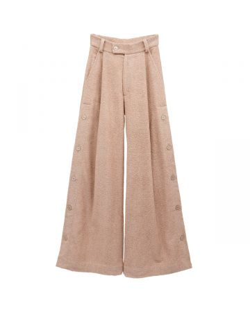 ANTON BELINSKIY TERRY TROUSERS WITH BUTTONS / PINK