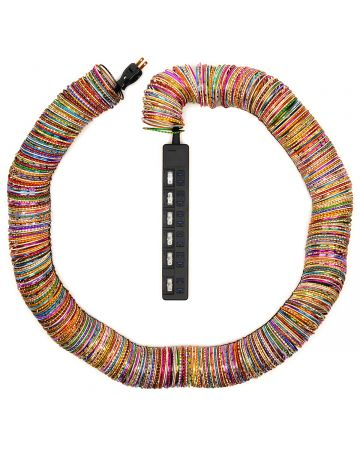 BLESS BANGLES CABLE JEWELRY MULTIPLUG / 634 : BLACK-MULTICOLOR