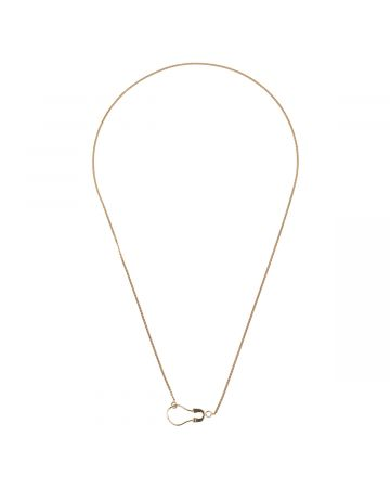 BIIS ROUND SAFETY PIN CHAIN SIZE M / GOLD