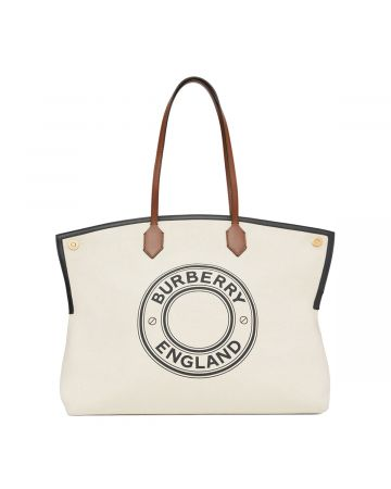 BURBERRY W TOTE BAG / A1395 : NATURAL