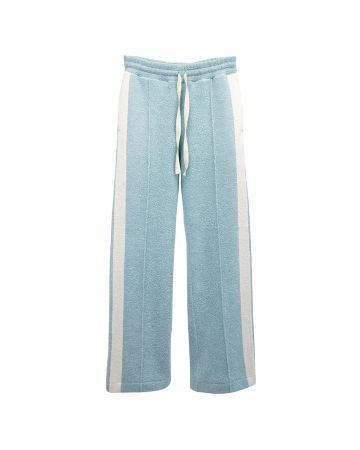 Casablanca FLARED TERRY TROUSER / 117 : PALE BLUE-ECRU