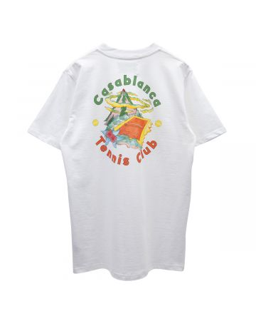 Casablanca DOUBLE PRINT T-SHIRT / 097 : CASA TENNIS CLUB