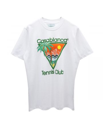 Casablanca SCREEN PRINTED T-SHIRT / 125 : TENNIS CLUB ICON