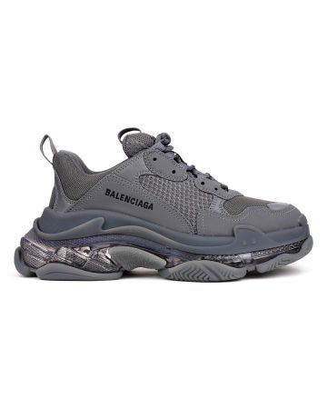 BALENCIAGA W2GA1/FABRIC SNEAKER RUBBER SOLE / 1801 : DARK GREY