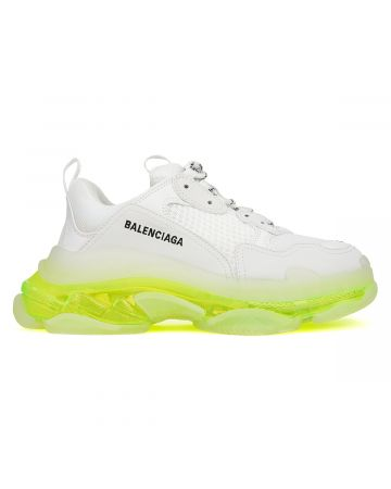 """EXCLUSIVE"" BALENCIAGA W2FR1/FABRIC SNEAKER RUBBER SOLE / 9073 : WHITE-YELLOW"