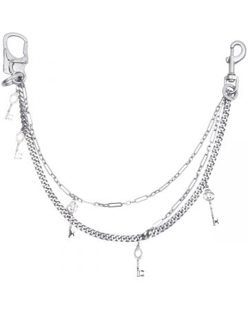 C2H4®️ MULTI COMBINED PANTS CHAIN / METAL SILVER