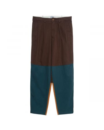 C.E 3 COLOUR WIDE CHINOS / BROWN