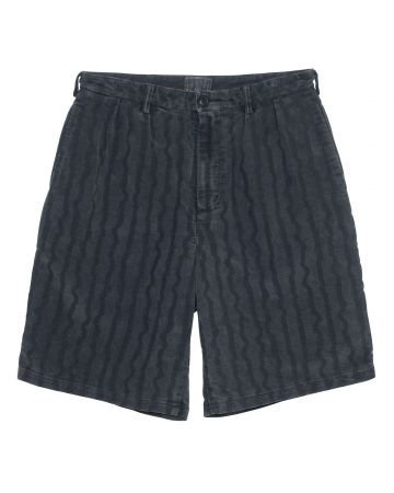 C.E WAVE STRIPE CHINO SHORTS / BLACK