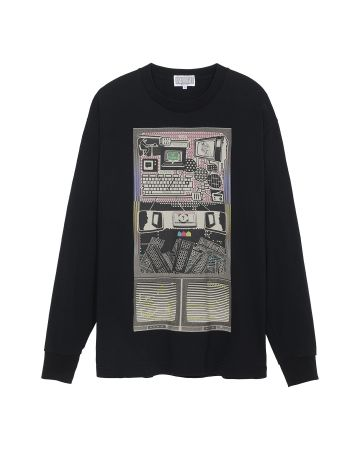 C.E MD TRANSMITTER LONG SLEEVE T / BLACK