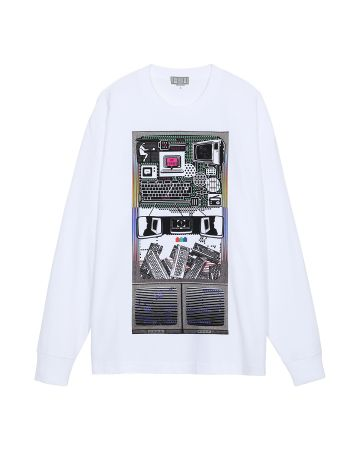 C.E MD TRANSMITTER LONG SLEEVE T / WHITE