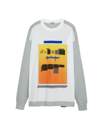 C.E AS PCOMP2 LONG SLEEVE T / GREY