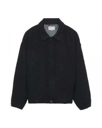 C.E WOOL BUTTON COLLARED JACKET / BLACK