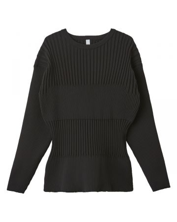 CFCL FLUTED TOP / BLACK