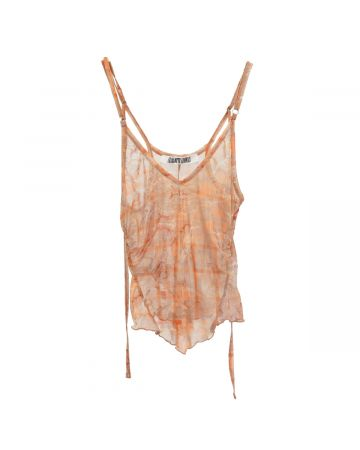 Charlotte Knowles THIN JERSEY PRINTED SLIP TOP / MARBLE