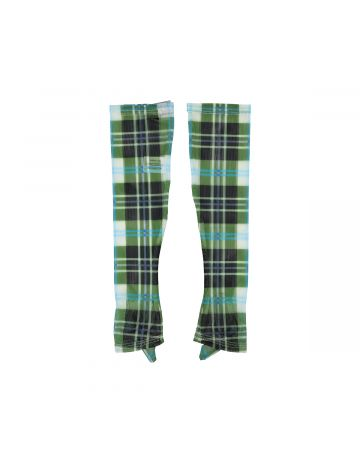 Chopova Lowena GREEN PLAID MESH GLOVES / GREEN