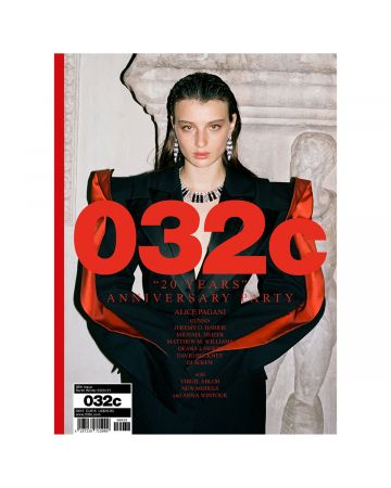 "032c Issue #38-Winter 2020/2021 :""20 YEARS"" / COVER : ALICE PAGANI"