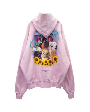 COOL T.M OVERSIZE HOODED SWEATER / PINK LAMA