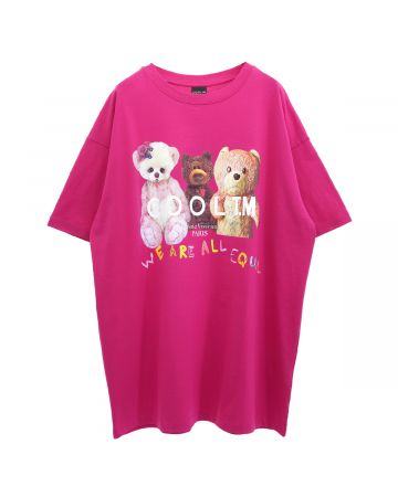 COOL T.M OVERSIZE T-SHIRT WE ARE EQUAL / FUCHSIA