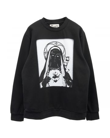 Denim Tears MONOCHROMTIC MARY SWEATSHIRT / BLACK