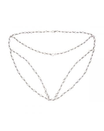 D'HEYGERE CHAIN PANTIES / SILVER-WHITE
