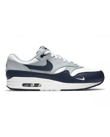NIKE AIR MAX 1 LV8 / 100 : WHITE/OBSIDIAN-WOLF GREY-BLACK