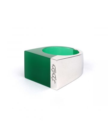 ENG x DIDU GREEN EMPOWER RING / SILVER-GREEN