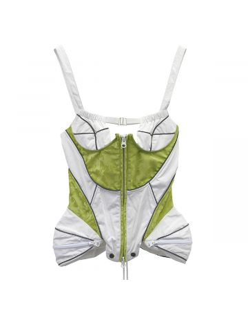 ENG x DIDU POCKET SPACE CORSET / WHITE-ACID GREEN