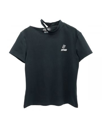 ENG x DIDU COLLAR LOGO T-SHIRT / BLACK