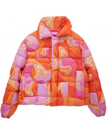 ERL CIRCLE PUFFER JACKET WOVEN / PINK