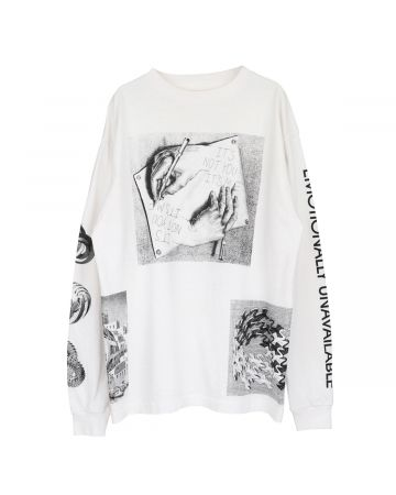 EMOTIONALLY UNAVAILABLE LS HAND T / WHITE