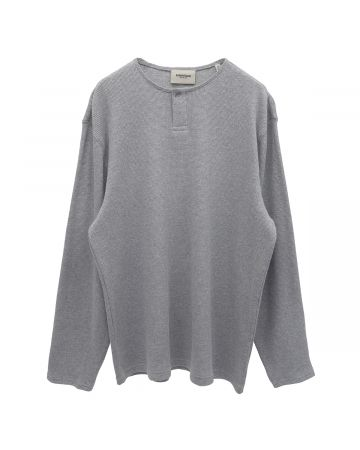 ESSENTIALS THERMAL HENLEY / 367 : HEATHER GREY