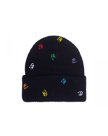 FUCKING AWESOME SCATTERED FA CUFF BEANIE / BLACK