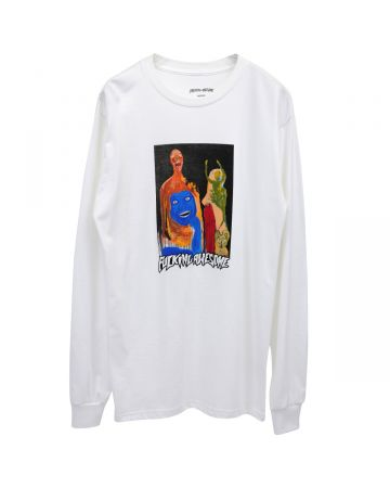 FUCKING AWESOME DILL COLLAGE II LS TEE / WHITE
