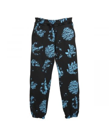 FUCKING AWESOME SPIRAL AOP SWEATPANT / BLACK