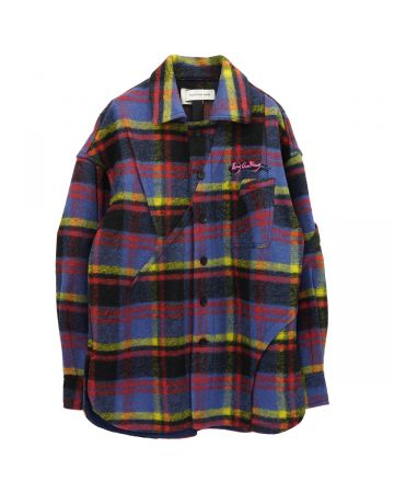 Feng Chen Wang PLEATED JACKET / PLAID