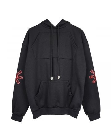 FOO AND FOO EMERGENCY SLEEP HOODIE / BLACK