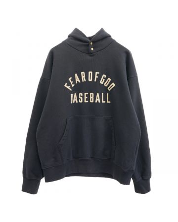 FEAR OF GOD SEVENTH COLLECTION BASEBALL HOODIE / 001 : BLACK