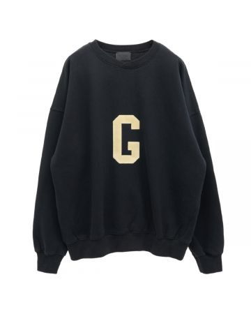 "FEAR OF GOD SEVENTH COLLECTION ""G"" CREWNECK SWEATSHIRT / 001 : BLACK"