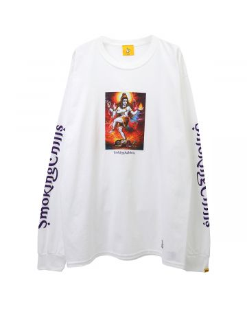 #FR2 SMOKING CHILLUM LONG SLEEVE T-SHIRT / 001 : WHITE
