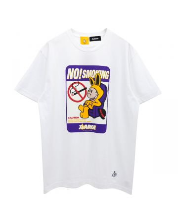 XLARGE collaboration with #FR2 NO SMOKING TEE / 001 : WHITE