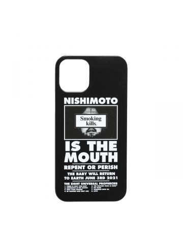 NISHIMOTO IS THE MOUTH Collaboration with #FR2 iPhone 12 mini CASE (MAN) / 029 : BLACK