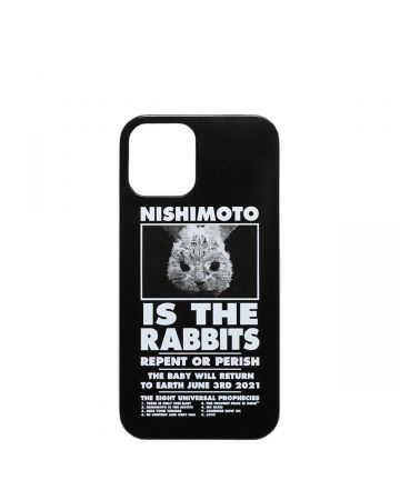 NISHIMOTO IS THE MOUTH Collaboration with #FR2 iPhone 12 mini CASE (RABBIT) / 029 : BLACK