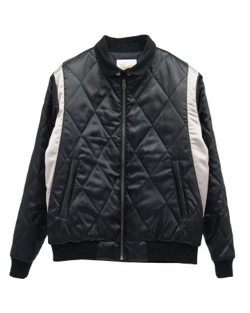 G foot by Gorillaz MURDOC QUILTED JACKET / BLACK-GOLD