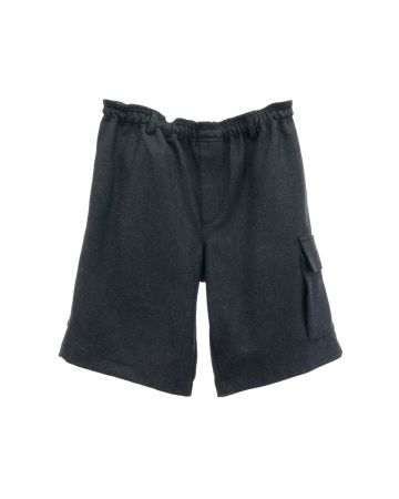 GR10K WOOL BROADCLOTH UTILITY SHORT / BROOD GREY
