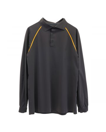 GR10K TAPED ULTRASOUND LS POLOSHIRT / BARK BROWN