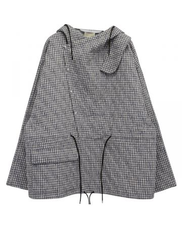 Georges Wendell BERNA DOWN EMBROIDERY JACKET / 007 : WHITE-BLUE PLAIDS